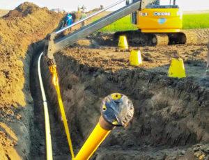 Riser 45 Degree Bend in Ditch